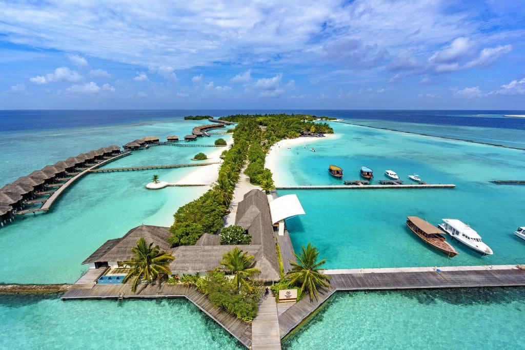 Sheraton Maldives Full Moon Resort & Spa aerial